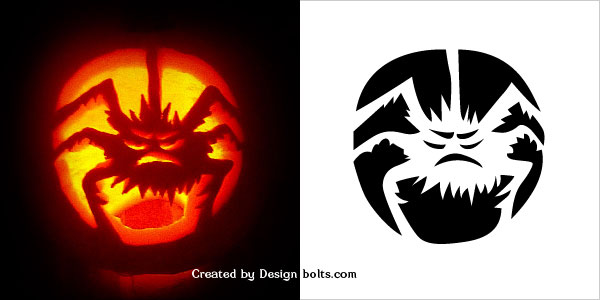 10 Free Scary Halloween Pumpkin Carving Patterns, Stencils