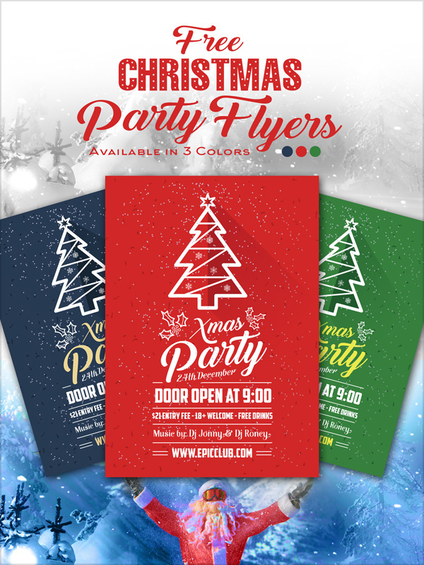 10+ Best Free Christmas Party Flyer / Poster Design Template in Ai