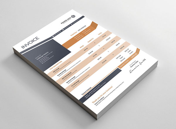 Top 10 Best Free Professional Invoice Template Designs in Ai  PSD - invoice designs