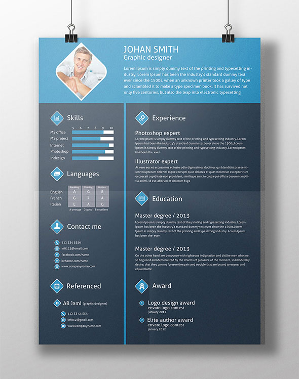 flat resume template free download