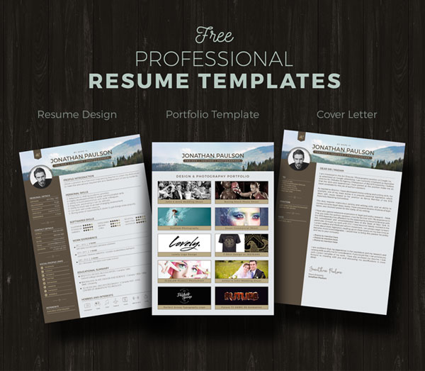 50+ Beautiful Free Resume (CV) Templates in Ai, Indesign  PSD Formats - resume templates for designers