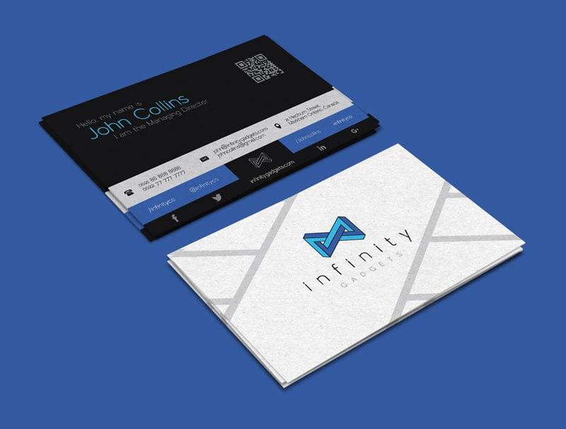 Free Modern Business Card Design  Logo Template - card design template