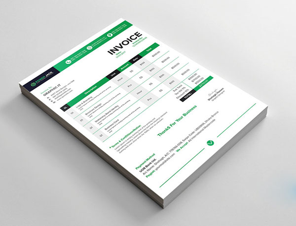 Top 10 Best Free Professional Invoice Template Designs in Ai  PSD