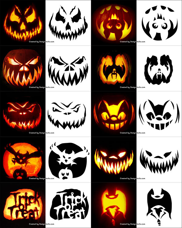 Really Scary Pumpkin Faces low budget interior design