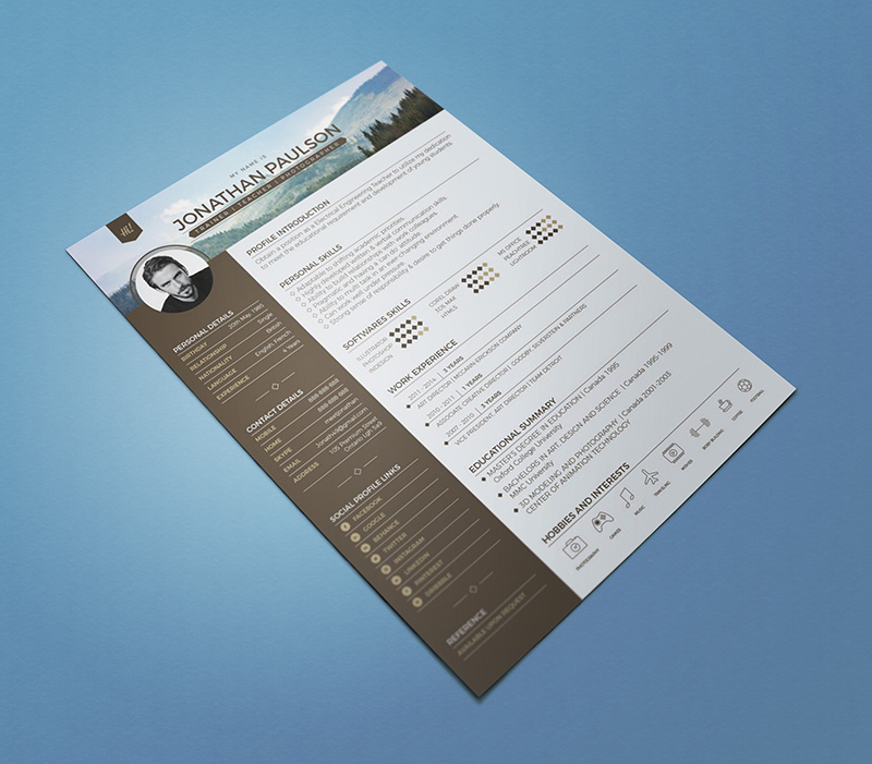 10 Fresh Free Resume / CV Design Templates 2018 in Word, PSD, Ai
