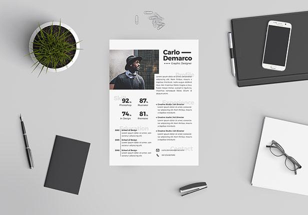 10 Free Professional Resume (CV) Template Designs 2018 in PSD, Ai