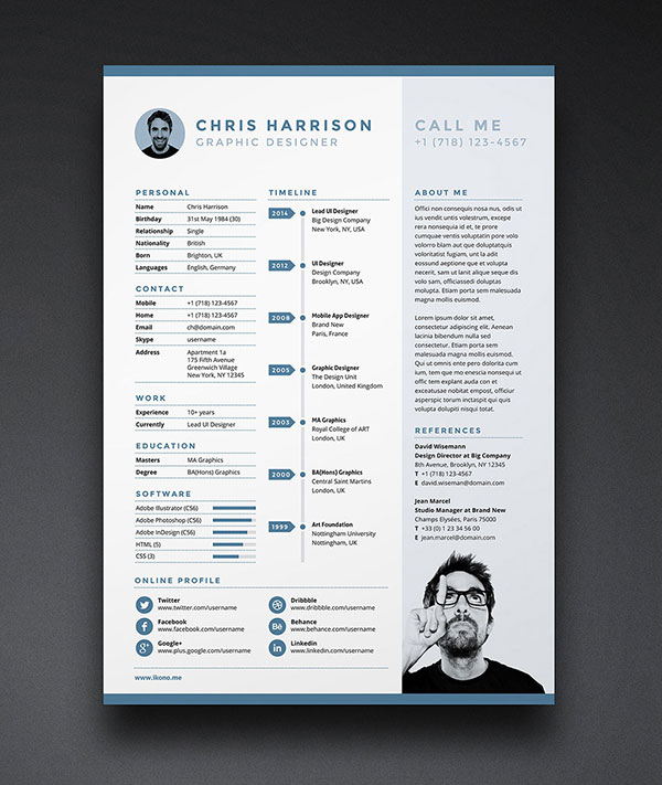 free indd resume template