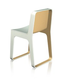 curved plywood chair | designboom.com