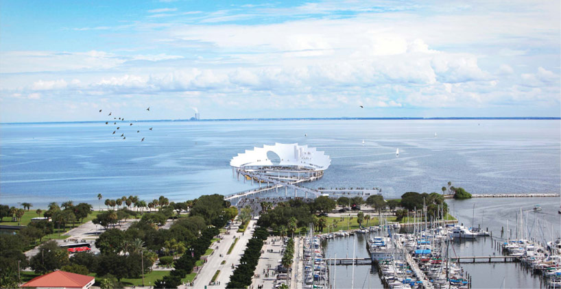 3d Roof Wallpaper Michael Maltzan Unveils The Lens For St Petersburg Pier