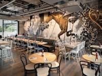 beef & liberty restaurant in hong kong features wall art ...