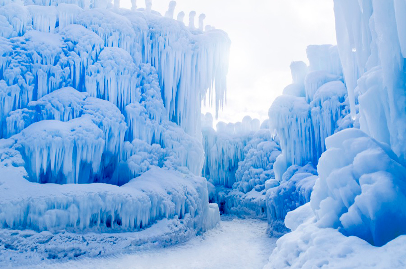Niagara Water Falls Desktop Wallpaper Frozen Forms Complete The Arctic Artistry Of Ice Castle Design