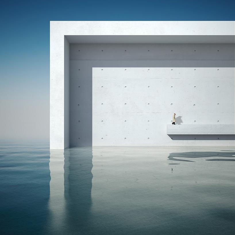 Minimalist 3d Wallpaper Michele Durazzi S Surreal Cityscapes Juxtapose Nature And