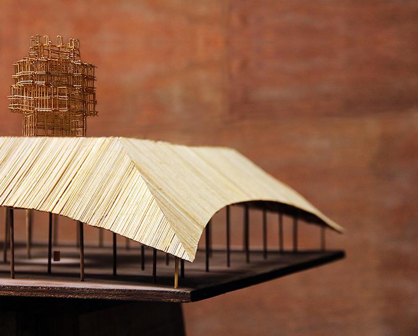 bijoy jain reveals bamboo design for melbourne's 2016 MPavilion
