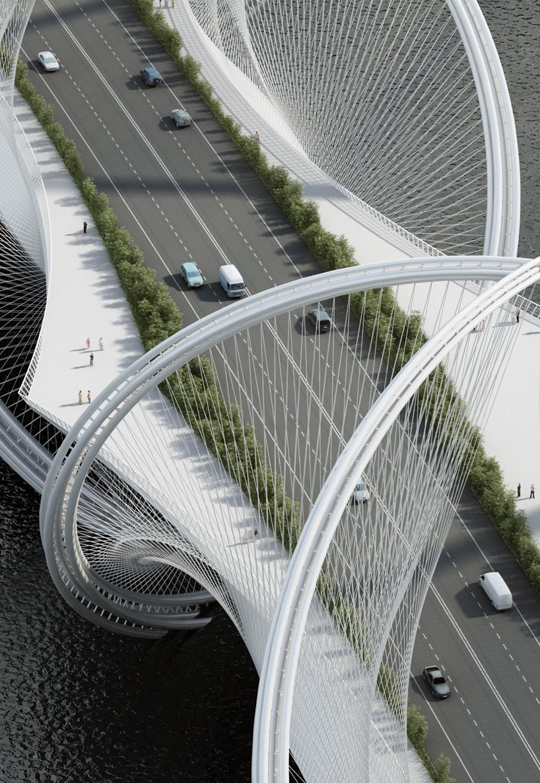3d Curved Wallpaper Penda Designs San Shan Bridge For 2022 Winter Olympics