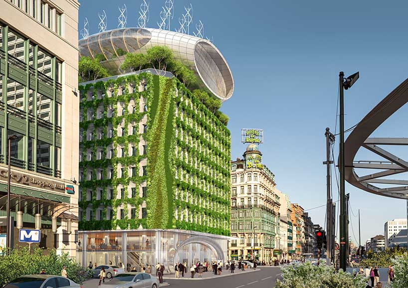 3d Library Wallpaper Vincent Callebaut Proposes To Green Brussels Botanic Center