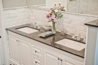 Beveled Marble Subway Tile - Design Build Planners