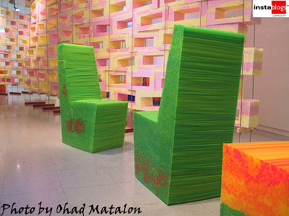 1  green chairs stool 50