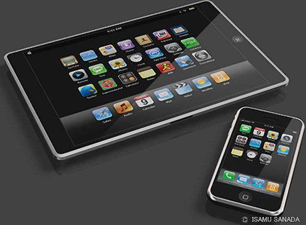 Apple iTablet concept design by Isamu Sanada