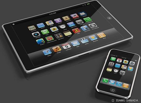Apple iTablet concept design by Isamu Sanada