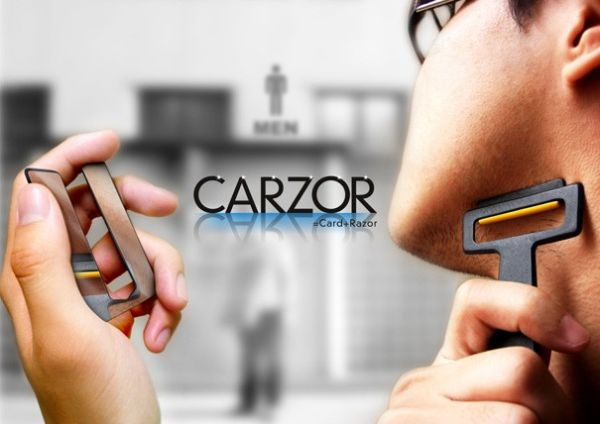 Carzor-Card Shaped Razor & Mirror