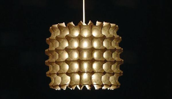 Egg Carton Lamp