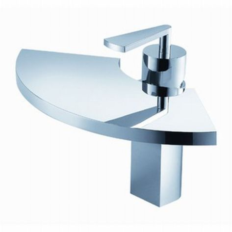 Fluid Fan Single Hole Bathroom Faucet