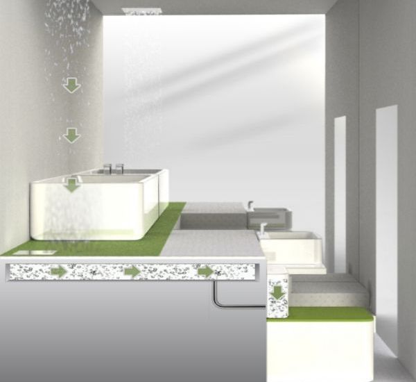 Greener Bathroom by Indian designer Dipesh Parmar