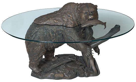 grizzly bear coffee table