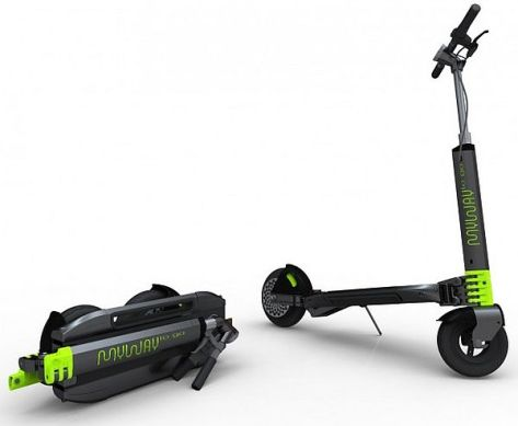 myway compact fold up electric scooter