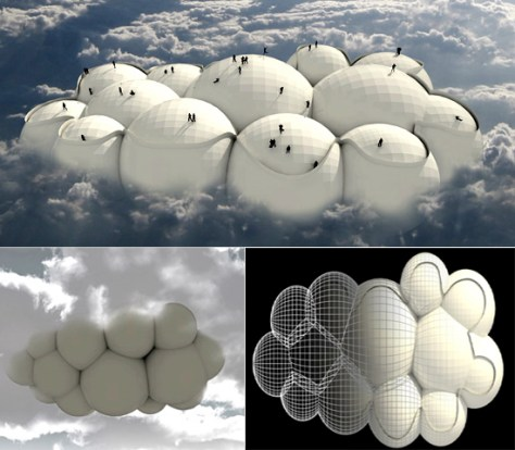 Passing Cloud concept