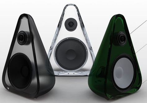 Recycled Glass Loudspeakers