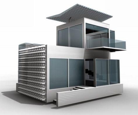 Self-sufficient futuristic house