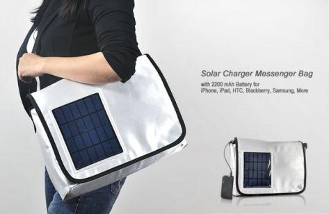 Solar Charger Messenger Bag