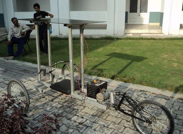 Solar powered reverse trike
