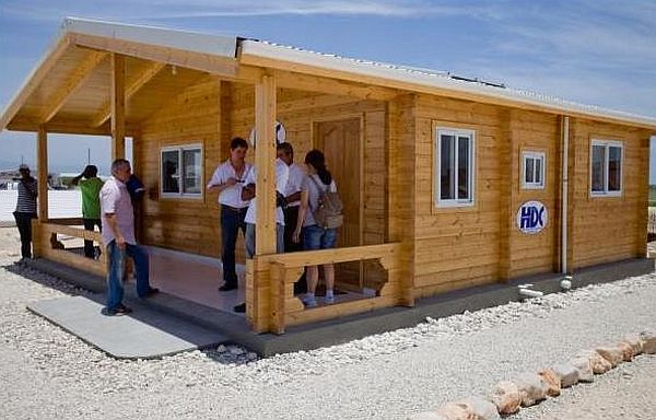 Solar powered wooden homes