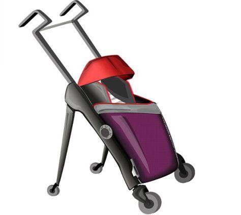 virgin atlantic baby cot and push chair  01