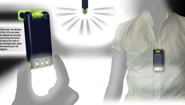 Wearable flashlight for nurses