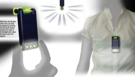 Wearable flashlight for nurses