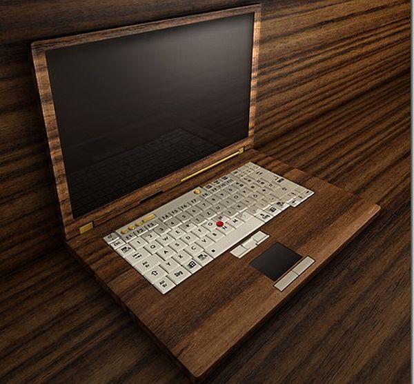 wooden computer