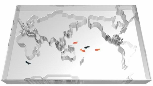 World Map Aquarium