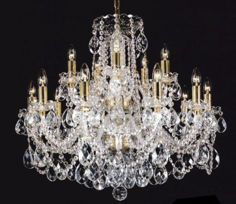 Chandeliers made of Bohemian crystals