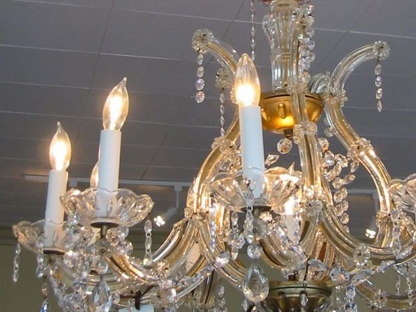 Italian made crystal chandeliers