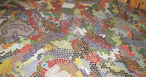 Bottle cap flooring