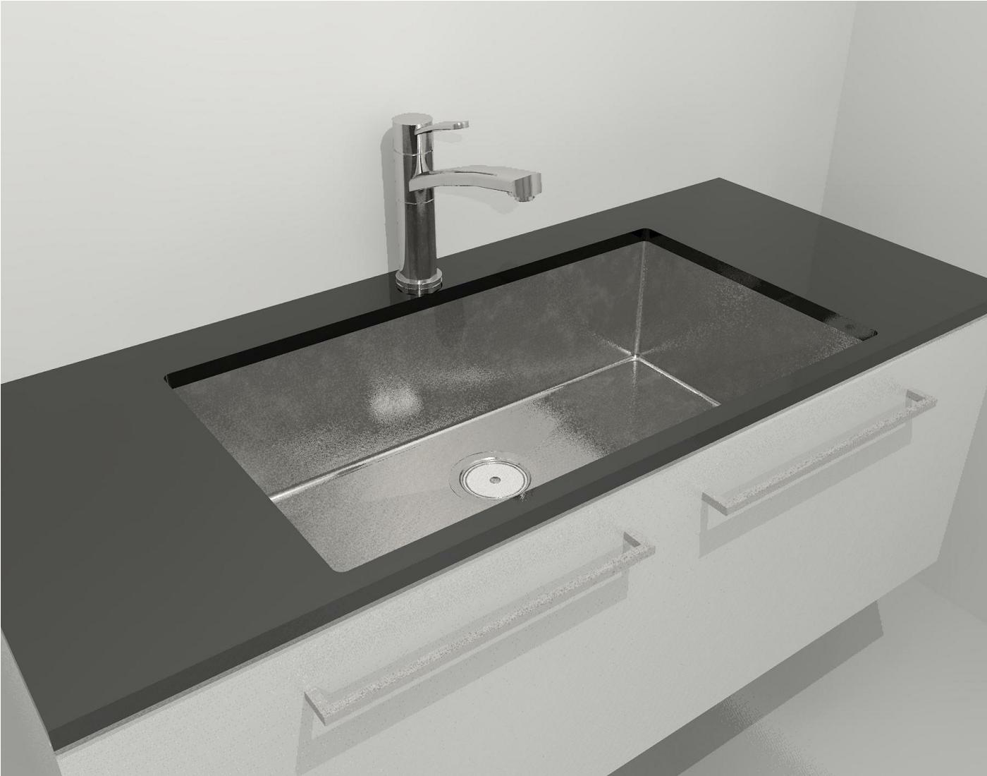 Clark Prism Single Large Bowl Undermount Overmount Sink