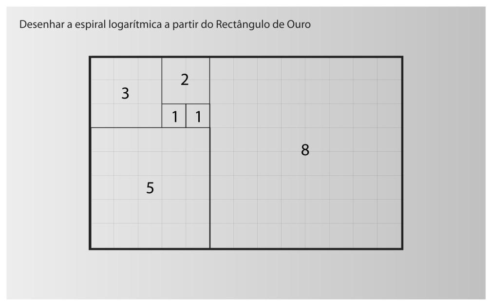 Rectângulo de Ouro - espiral logarítmica
