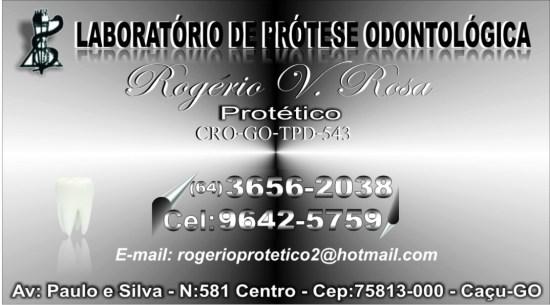 Rogerio Protetico. 9,0 x 5,0 cm