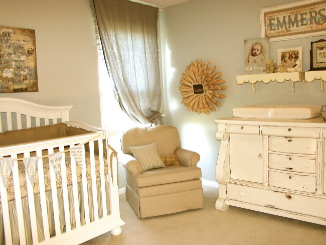 Vintage Neutral Girls Nursery Design Dazzle