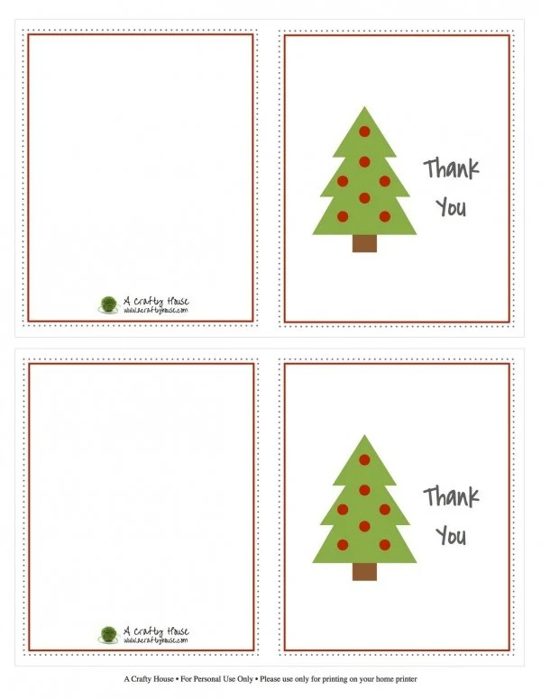 Kids Christmas Thank You Note Printables - Design Dazzle - printable thank you note