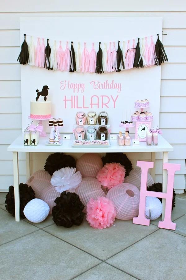 A 50\u0027s Themed Girls Birthday Party! - Design Dazzle - birthday party design