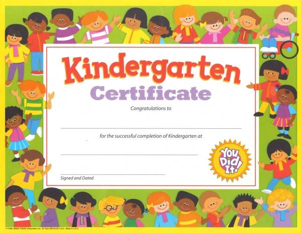 nursery graduation certificate